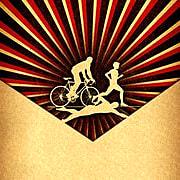 216145 triathlon sepia style