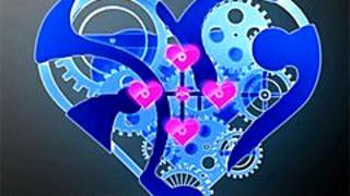 255523 a blue heart