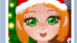 279887 christmas girl dressup