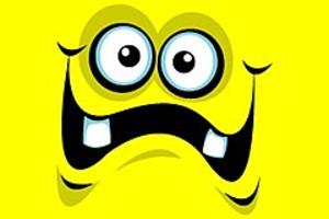 212066 yellow cartoon face