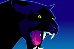 252876 growling panther