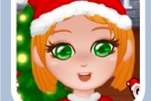 279887 christmas girl dressup