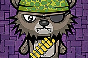 443760 teddy bear zombies machine gun