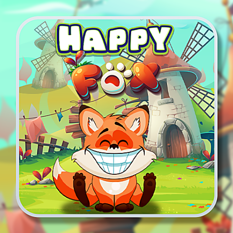 455827 happy fox